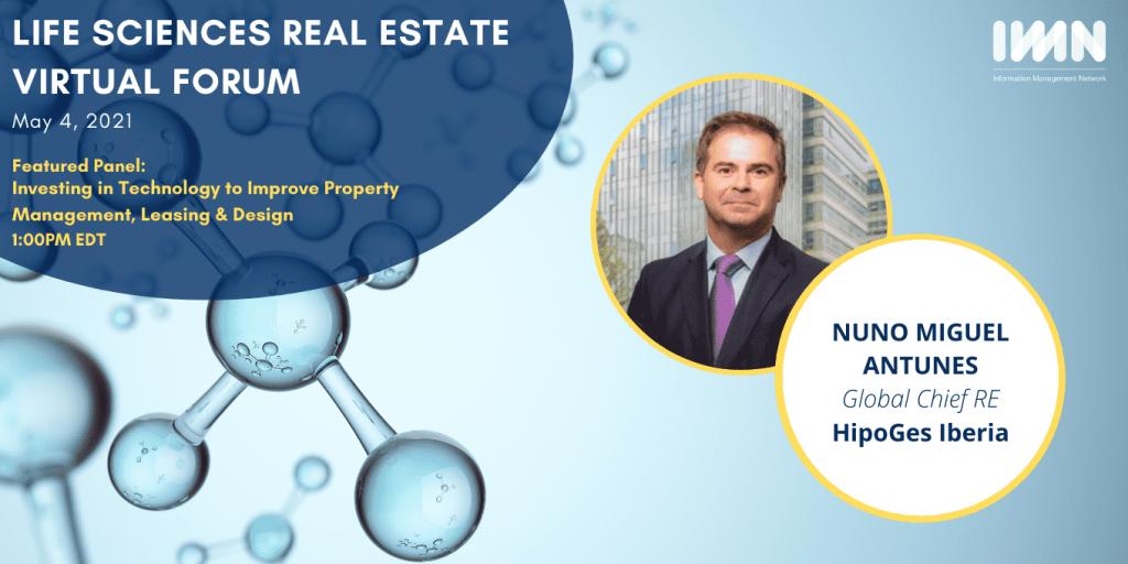 Nuno Antunes event IMN Life Sciences Real Estate Virtual Forum imobiliario