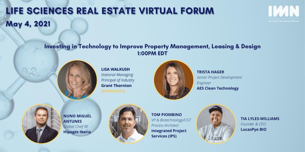 Nuno Antunes GCRO Life Sciences Real Estate Virtual Forum hipoges present event IMN