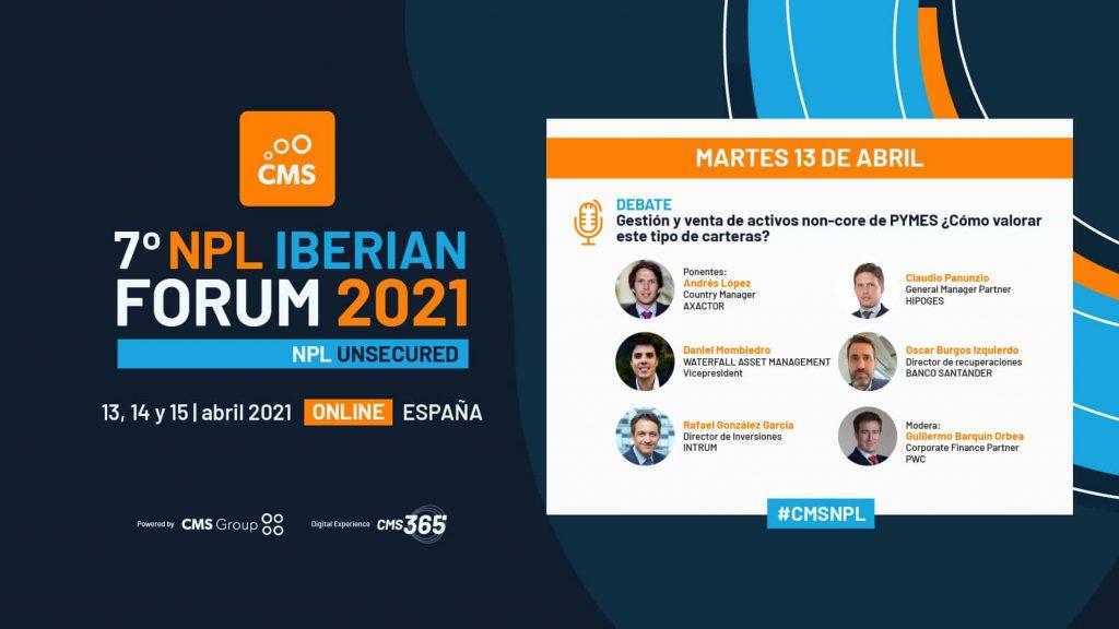 NPL Iberian Forum HipoGes CMS Group Evento Presença